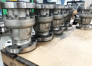 "Ladish 3"", CL300 Monel (M35-1) metal seated ball valves"